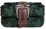 Rochas Small Buckle Fil Coupé Shoulder Bag