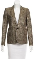 Saint Laurent Metallic Textured Evening Blazer