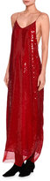Stella McCartney Bernice Sequined Cami Gown, Red