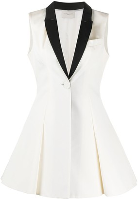 Giuseppe di Morabito Contrasting Lapel Mini Dress