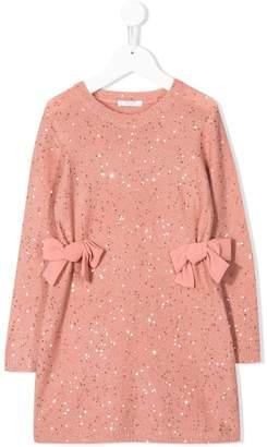 Liu Jo Kids sequin-embellished knitted dress