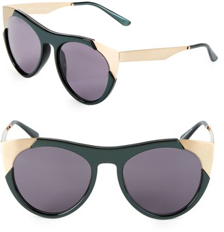 Smoke X Mirrors 53MM Butterfly Sunglasses
