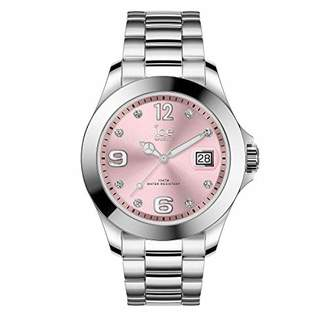 Ice Watch Ice-Watch - Ice Steel Light pink with Stones - Women's Wristwatch with Metal Strap - 016776 (Medium)