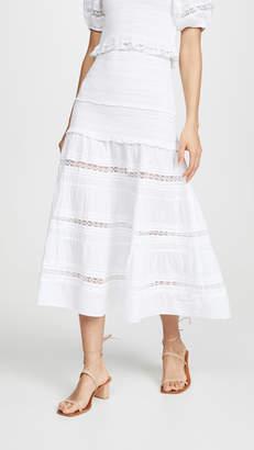 LoveShackFancy Olive Skirt