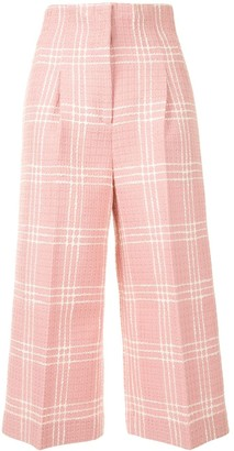 MSGM Cropped Check Trousers