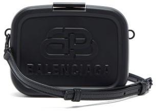 Balenciaga Lunch Box Mini Bb-embossed Cross-body Bag - Black