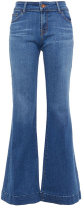 J Brand Faded Mid-rise Flared Jeans