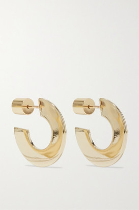 Jennifer Fisher Drew Huggies Gold-plated Hoop Earrings - one size