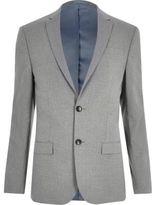 River Island Grey Skinny Suit Jacket