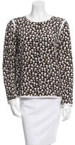 Max Mara Long Sleeve Floral Print Top