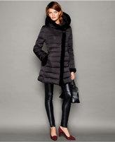 The Fur Vault Beaver-Fur-Trim Puffer Coat