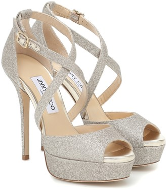 Jimmy Choo Jenique 125 embellished sandals