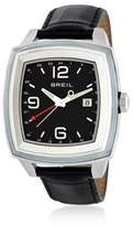 Breil Milano Dual Time Croc-Embossed Leather Watch
