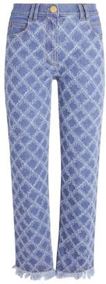Balmain Laser-Grid Straight Jeans