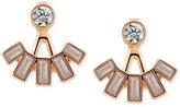 T Tahari Gold-Tone Crystal Jacket Earrings