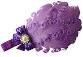 Moleya® Baby Girls' Hair Band Clip with Stretchy Headband & Feather