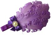 Moleya® Baby Girls' Hair Bands with Stretchy Headband & Cute Feather