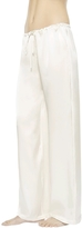 La Perla Petit Macrame Natural Pure Satin Silk Classic Trousers