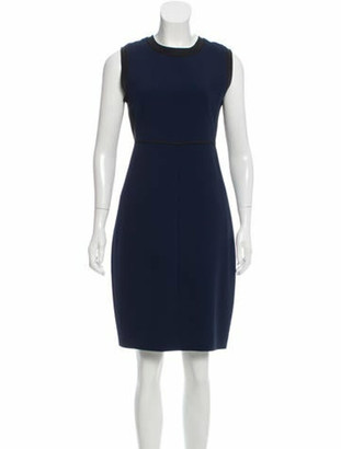 Narciso Rodriguez Contrast Office Dress Navy