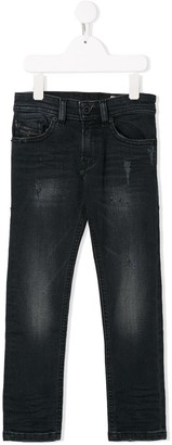 Diesel Distressed Slim Jeans