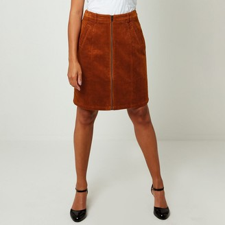 Joe Browns Corduroy Zipped Mini Skirt