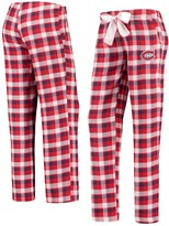 Unbranded Women's Concepts Sport Red/Navy Montreal Canadiens Piedmont Flannel Pants