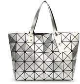 Kayers Sulliva Women's Fashion Geometric Lattice Tote Glossy PU Leather Shoulder Bag Top-handle Handbags