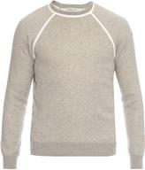 Moncler Raglan-sleeved cotton-blend sweater