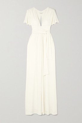 Halston Cutout Jersey Maxi Dress - Off-white