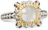 Konstantino Erato Delicate Square Labradorite Doublet Ring, Size 8