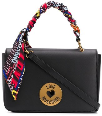 Love Moschino logo plaque tote bag