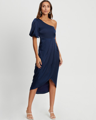 CHANCERY - Women's Blue Bridesmaid Dresses - Glory Midi Dress - Size One Size, 8 at The Iconic