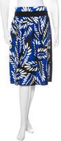 Diane von Furstenberg Printed Knee- Length Skirt
