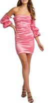 Bardot Darla Strapless Satin Sheath Minidress