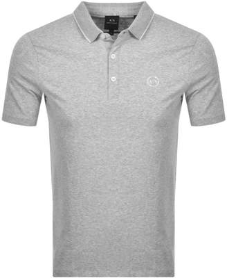 Armani Exchange Short Sleeved Polo T Shirt Grey