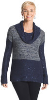 Chico's Maddie Space-Dyed Cowl Neck Sweater