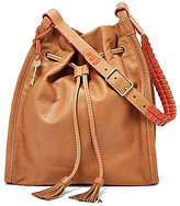 Fossil Claire Tasseled Drawstring Bag with Whip-Stitched Strap