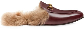 Gucci Pricetown fur-lined slippers