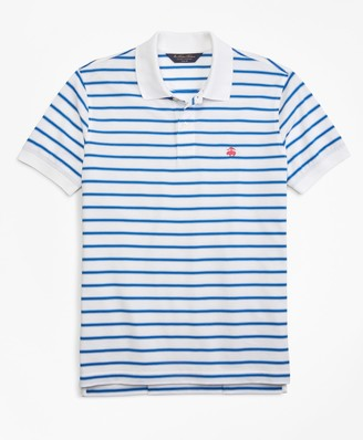 Brooks Brothers Slim Fit Outlined Stripe Polo Shirt