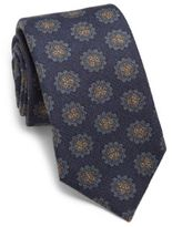 Isaia Medallion Wool & Silk Tie