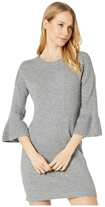 BB Dakota Let It Snow Ruffle Sleeve Sweater Dress (Heather Grey) Women's Sweater
