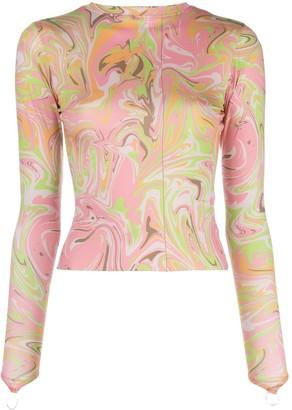 MAISIE WILEN Body Shop marble print top
