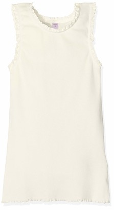 Scotch & Soda Girl's Basic Rib Tank Top with Lace Details at Armhole and Neckline Vest