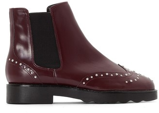 Ankle Boots with Studded Detail