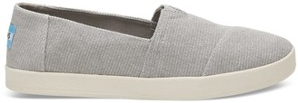Toms Drizzle Grey Heavy Canvas Women's Avalon Slip-Ons