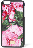 Dolce & Gabbana Printed Textured-leather Iphone 6 Plus Case - Pink