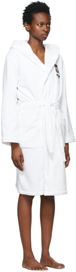 Thumbnail for your product : Moschino White Underbear Robe