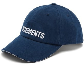 Vetements X Reebok Logo-embroidered Cotton Cap - Navy