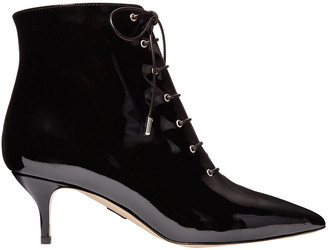 Paul Andrew Lace-up Patent-leather Ankle Boots