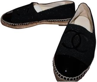Chanel Black Patent leather Espadrilles